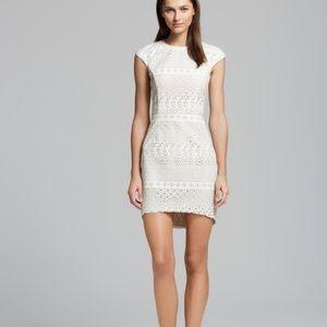 Anthropologie Dolce Vita white laser cutout dress